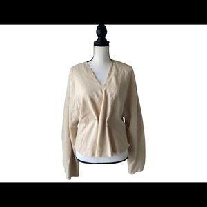 Nanushka Creamy Tan long sleeve Top Size Medium